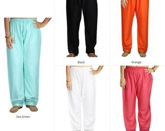 ce4948e227 Palazzo with Bottom Lace Casual Pants Border Women's Loose Flared Trouser  Yoga Rayon Pajama Stylish Herem