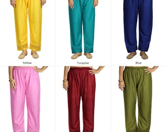 4ad5967aa1 Palazzo Casual Pants Trouser with Bottom Lace Border Stylish Herem Women's  Loose Flared Yoga Rayon Pajama Trouser