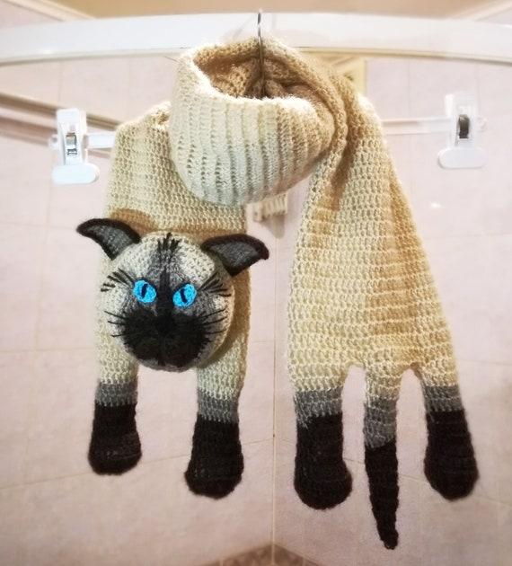 CROCHET PATTERN for Cute Crochet Kitty Cat Cute Siamese Kitty | Etsy | 630x570