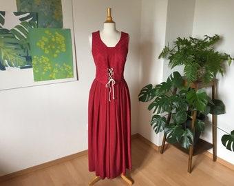 8c07fa930f342e Wenger Vintage Dirndl Mittelalter Maxi Kleid Gr 40 Trachten Tracht