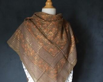948ed7c4d05214 80er VINTAGE glam Lurex Tuch scarf Folklore Baumwolle rar