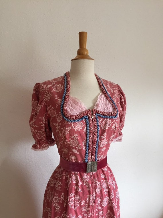 40s 40s Dream VINTAGE Wash Dirndl Costumes Dress S