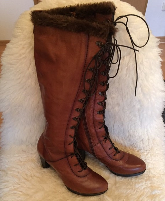 Vintage Dream Leather Lace Up Boots Boots 37 Spain