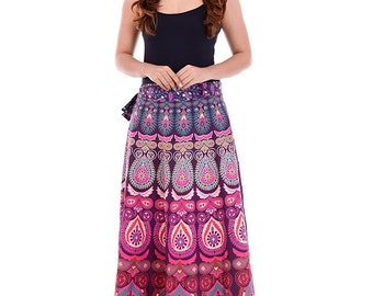 460edc3ca0 Women Rajasthani Mandala Print Causal Long Skirt