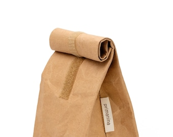"""Lunch Bag made of vegan leather """"Beige"""""""