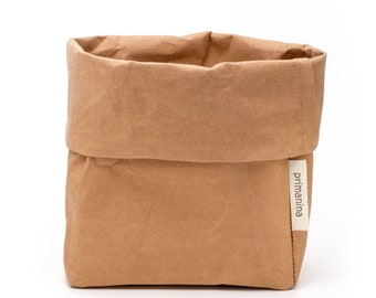 """Paper Bag made of vegan leather """"large"""""""