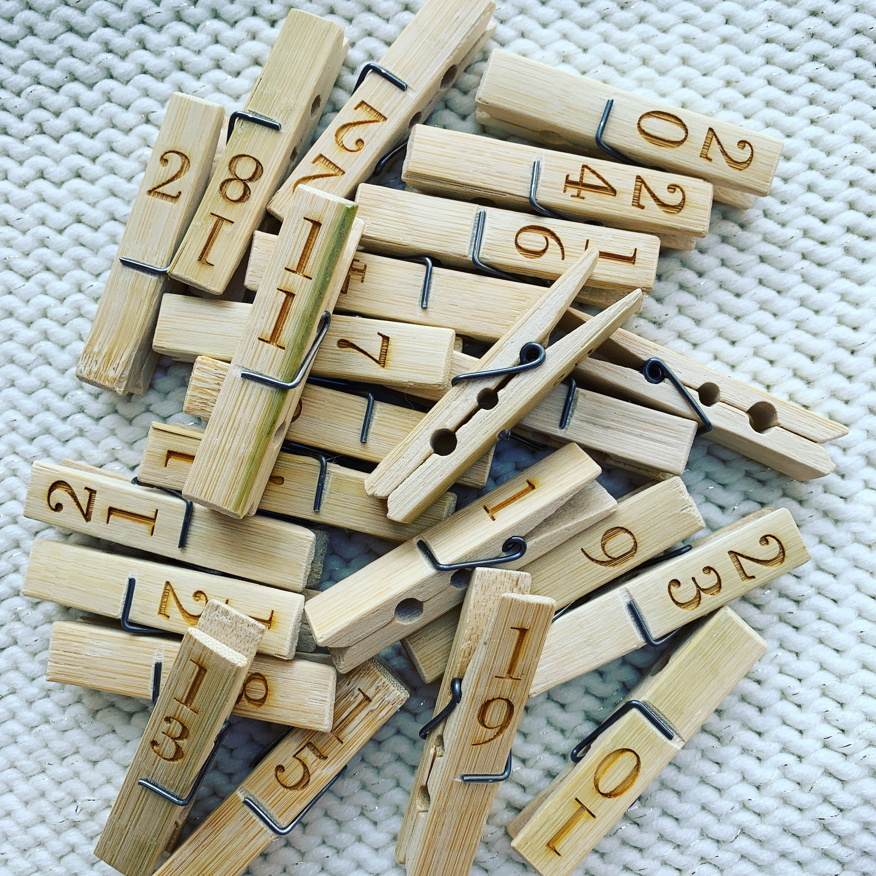 24 Natural Wooden Clothes Pegs Perfect for AdventWooden Shapes for Crafts