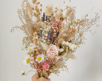 Wildflower Bride Bouquet Pinks and Daisies / Festival Meadow Bouquet