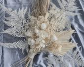 Preserved Pampas Grass Boho Bouquet / Palm Spear Bouquet/ Eternal Blossom Hydrengea Bouquet