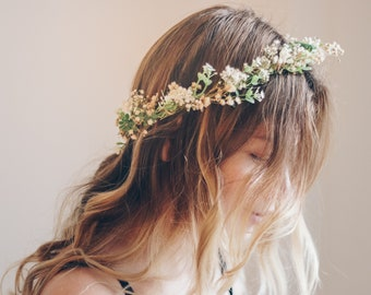 Whimsical Forest Herbs Flower Crown - dried flowers 02e3b4b4cb9