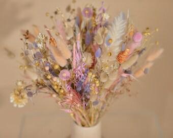 Pastel Wildflower Boho Bouquet / Pink and Purple Bridal Bouquet / Pride Bouquet