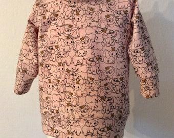 Sweater,Tunika,Sweatschirt Hoody, Winter,Spring Girl,Long Sleeved,Size 80,Eco-Tex 100,French-Terry.