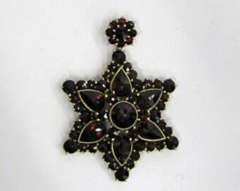 Gold Wash Sterling Silver Garnet Pendant