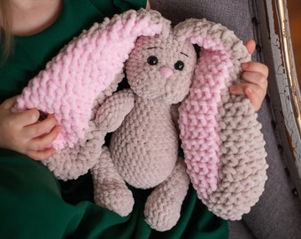 "Brinkley The Big Bunny - 26"" Tall - Giant Amigurumi Instant Download  PDF CROCHET PATTERN 