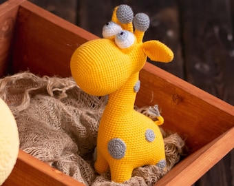 Amazon.com: Handmade crocheted Giraffe toy, big stuffed amigurumi ... | 270x340