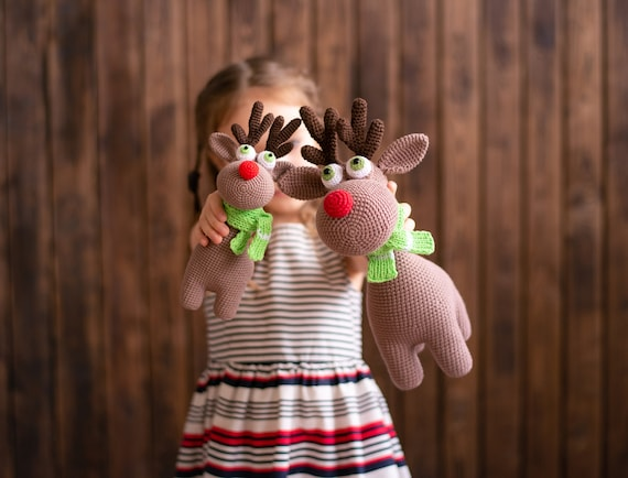 CROCHET PATTERN Christmas Deer Rudolph / Crochet pattern Rudolf the Reindeer / Amigurumi pattern / Amigurumi animals / Easy Crochet pattern