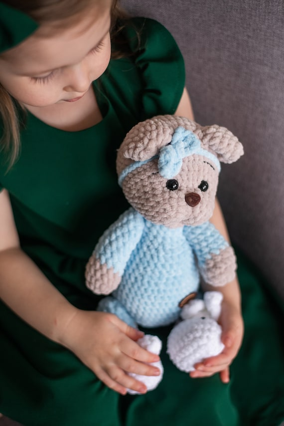 Ravelry: Easy-peasy teddy-bear — crocheted in one piece pattern by ... | 854x570