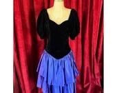 Vintage 80 39 s Homemade Velvet Renaissance Cottagecore Style Dress S