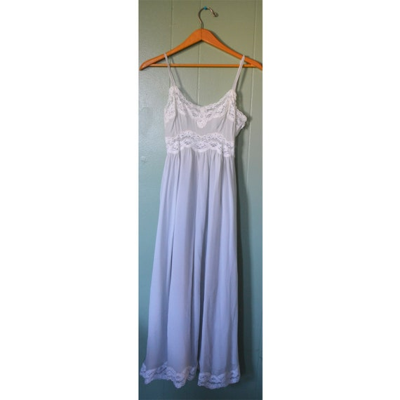 Vintage 40's Homemade Mint Sheer Nightgown