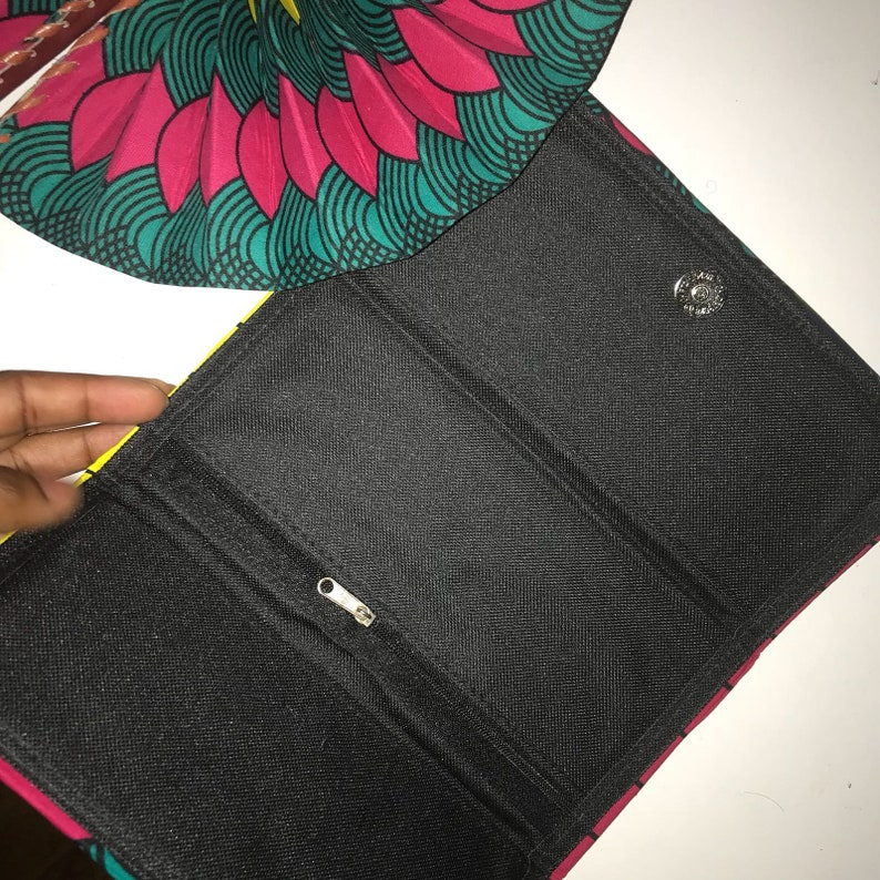African Print Ankara Material Foldable Hand Fan and Matching Purse