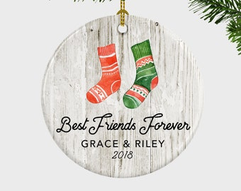 best friends forever ornament bff personalized christmas ornament best friends forever gift christmas ornament for friendgift for friend - Best Friend Christmas Ornaments