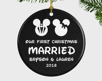 first christmas couple ornament etsy