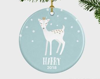 baby deer christmas ornament boy babys first christmas ornament baby boy christmas ornament christmas ornament gift personalized ornament - Baby Boy First Christmas Ornament
