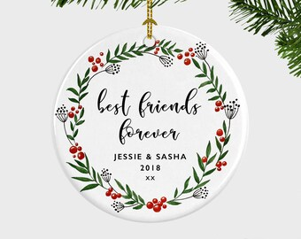best friends forever christmas ornament christmas ornament for friend bff best friend sister gift friend birthday gift gift under 20