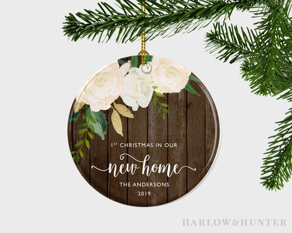 First Christmas In Our New Home 2019.First Christmas In Our New Home Christmas Ornament Christmas Ornament For New Home Personalised Housewarming Gift New Home Gift For Couple