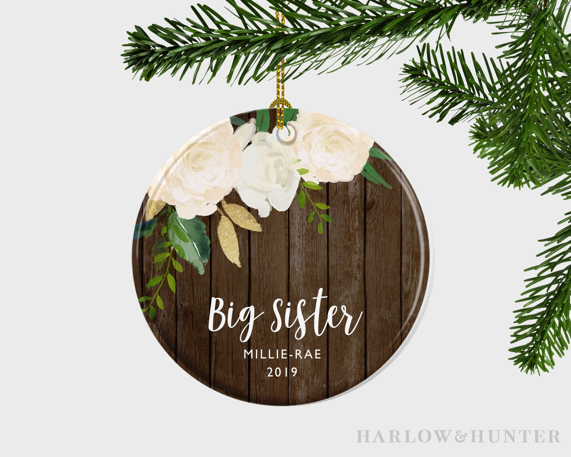 Personalized Big Sister Christmas Ornament New Big Sister