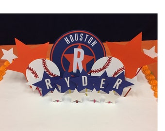 Houston Astros Birthday Cake Topper