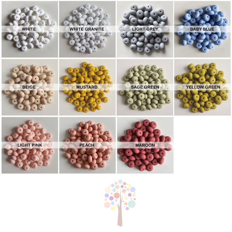For Jewellery 14mm Flat Beads silicone crafts 14mm ABACUS Silicone Beads BPA free Food Grade Silicone jewelry