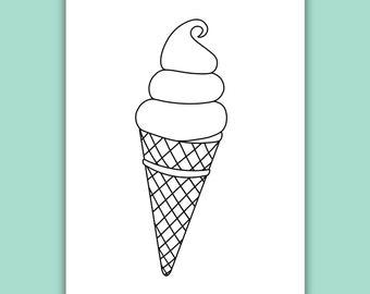 Ice cream coloring | Etsy
