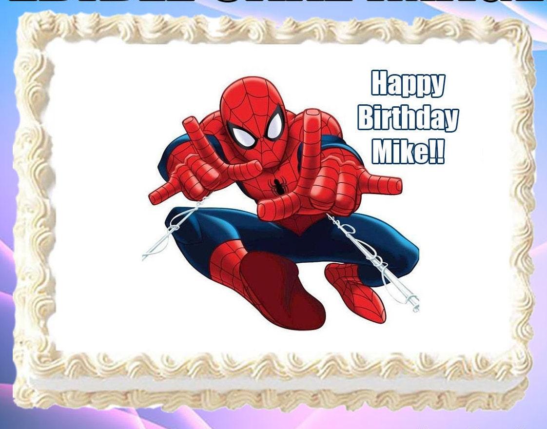 Fabulous Spiderman Cake Topper Image Topper Birthday Icing Cupcake Etsy Funny Birthday Cards Online Unhofree Goldxyz