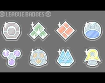 Pokemon gym badges | Etsy