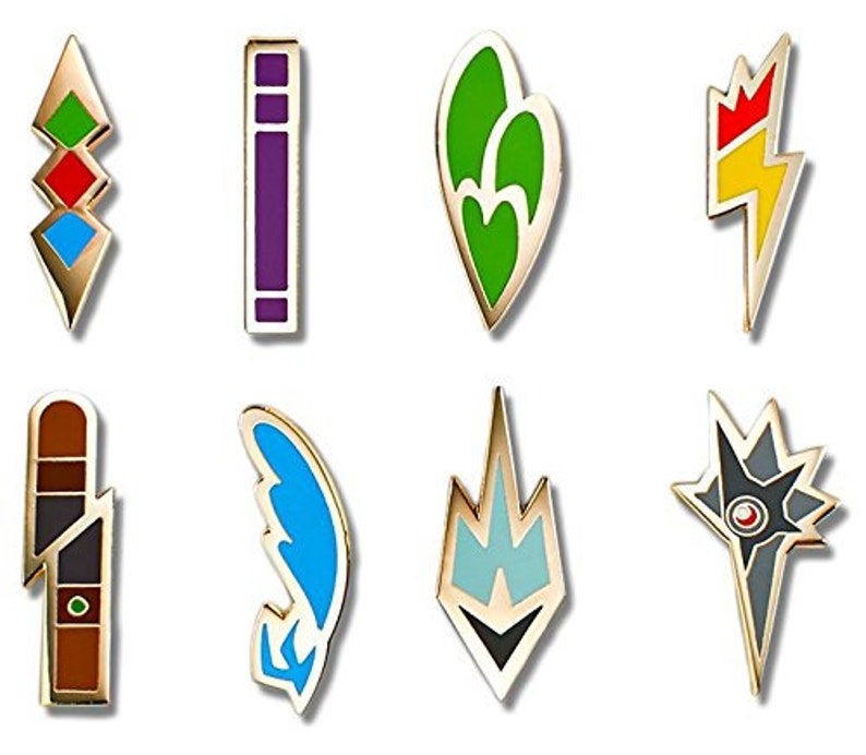 Pokemon Unova Gym Badges STL 3D Print File - Video Game Collectibles