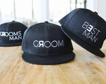 60faaba9047 Groom and Groomsman Snapback hats