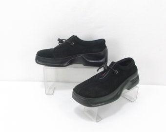 15155d896381 Vintage PRADA black leather shoes Italy size us6 uk3.5 eu36 AUTHENTIC