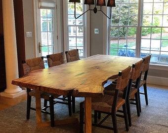 Fine Live Edge Dining Table Etsy Creativecarmelina Interior Chair Design Creativecarmelinacom