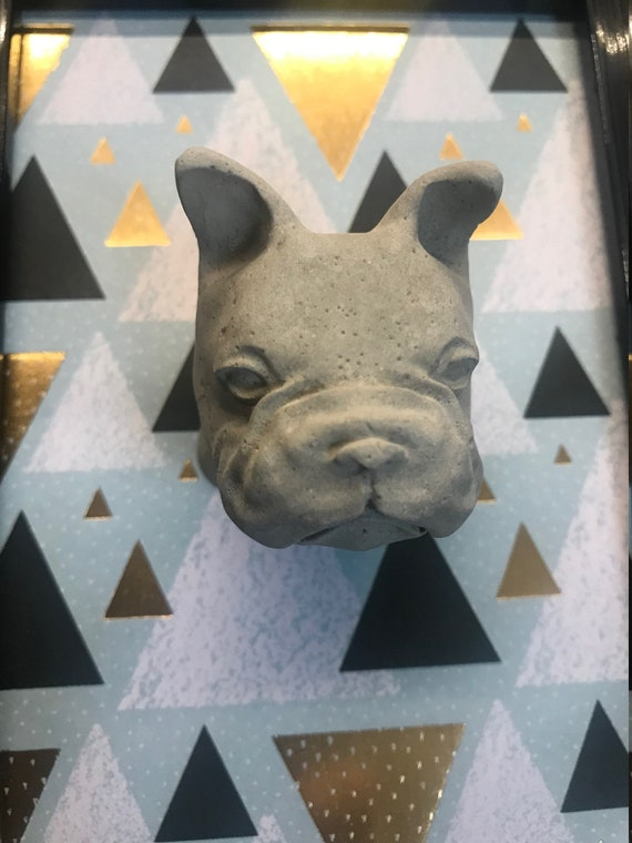 Handmade 3d Image With French Bulldog Frenchie Concrete Image Modern Dog Love Decoration