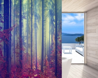 3d Sun Snow Woods 7 Shower Curtain Waterproof Fiber Bathroom Home Windows Toilet Curtains, Drapes & Valances