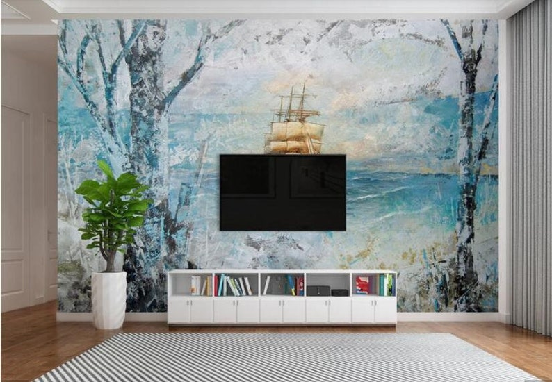 European Wallpaper Oil Painting Everything is Going Smoothly Wallpaper Mural Waterproof Murals Print Photo Wall Paper Wall Art Decor