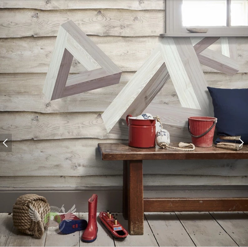 Abstract Geometric Triangle Wallpaper Mural Art Wall Decals Wall Decor 3D Printed Photo Wall Paper Rolls Contact Paper for Living Rooom