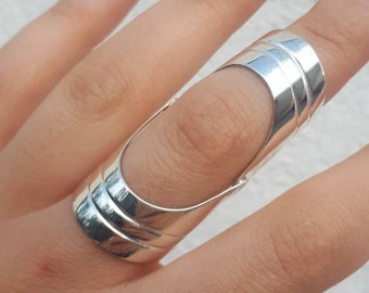 Metal Armor Knuckle Full Finger Double Ring Vintage Gothic Jewellery Cool
