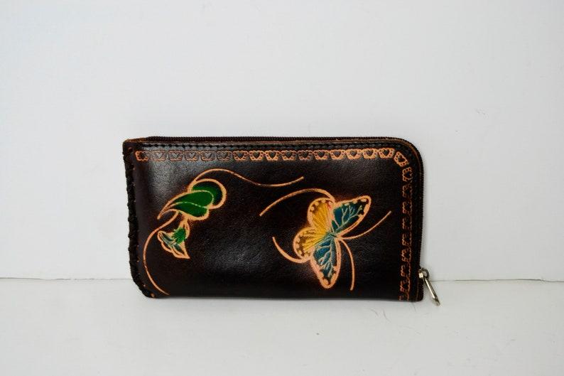Women/'s butterflies purse butterflies purse women/'s gift Christmas brown purse women/'s purse vintage leather purse