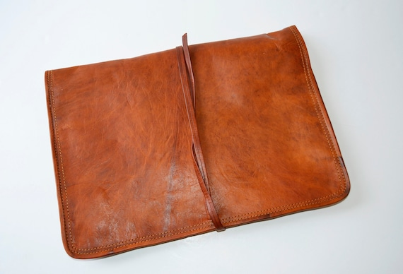 leather wallet, goat wallet, document folder, brow