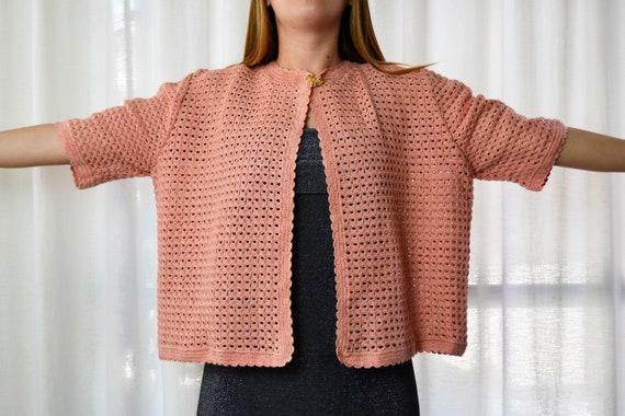 crochet jacket, short sleeve jacket, xxl jacket, h