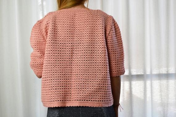 crochet jacket, short sleeve jacket, xxl jacket, … - image 6