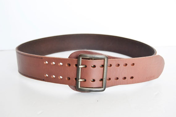Brown leather belt, women's belt, vintage belt, br