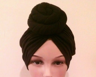 d421fd5be4f Top Knot Turban Cotton Jersey Hat Vintage
